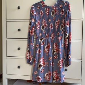 Lush high neck floral print dress